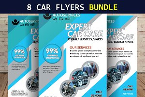 8 Driving School & Car Wash Flyers