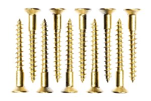 Isolated Golden Screws Set