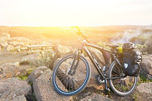 Bike with active equipment at