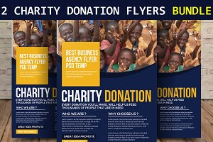 2 Charity Donation Flyers Bundle