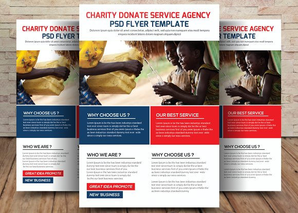 2 charity donation flyers bundle flyer templates creative market