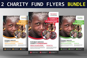 2 Charity Fundraisers Flyers Bundle