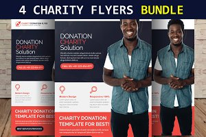 4 Charity Flyers Bundle