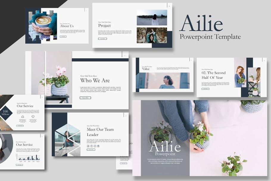 Ailie Google Slide Template ~ Google Slides Templates ~ Creative Market