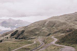 Mountains on Jungfraujoch Station