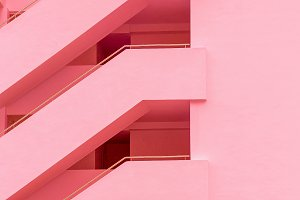 Balconies. Geometry. Fashion minimal