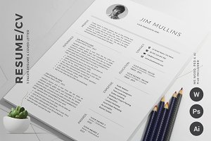 Resume/CV Template (3 Pages)
