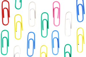 Many Colored Paper Clips Background