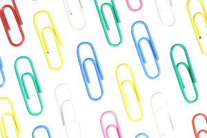 Colored Paper Clips Background