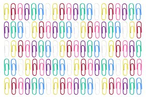 Paper Clips Pattern Background