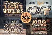 Marquee Light Bulbs - All in 1 by Tomas Veselovsky in Graphics