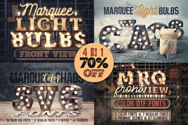 Graphics - Marquee Light Bulbs - All in 1