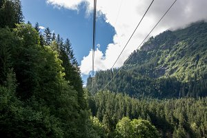 Cable Car Through Mountains, Swiss