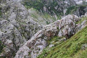 Closeup Mountains Scene, Swiss