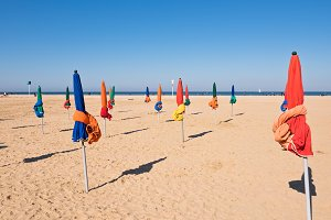 The famous colorful parasols on