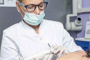 dentist working
