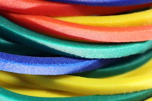 Colored Rubbers Background Texture