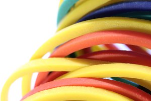 Colored Stationery Rubbers Stack