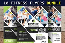 10 Fitness Flyers Bundle