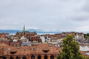 View of Historic Lausanne City