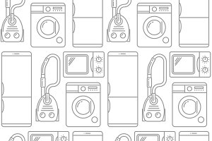 Seamless pattern of household
