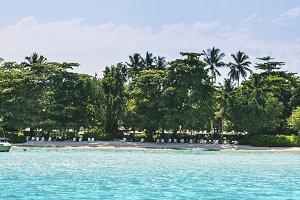 Tropical beach at Mahe island