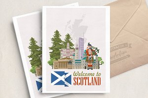 Scotland travel vector. Scottish