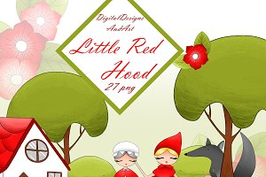 Little red riding hood clipart