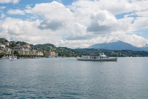 Lake, City & Mountains in Lucerne