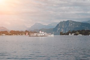 Lake Lucerne & Mountains in Lucerne