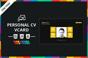 Personal CV Vcard HTML Template
