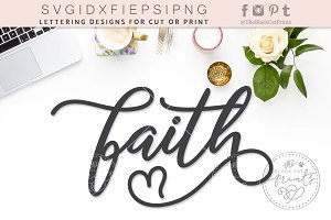Faith SVG DXF EPS PNG