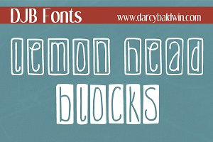 DJB Lemon Head Blocks Fonts