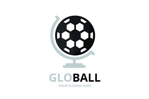 Vector soccer and globe logo