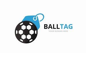 Vector soccer and tag logo