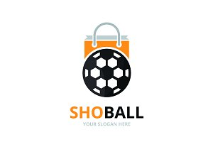 Vector soccer and shop logo