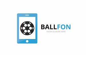 Vector soccer and phone logo