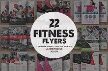 22 Fitness Flyers Bundle