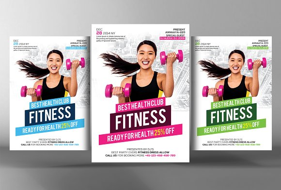 22 fitness flyers bundle flyer templates creative market