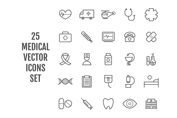 Medical and Health Vector Icons ~ Icons ~ Creative Market