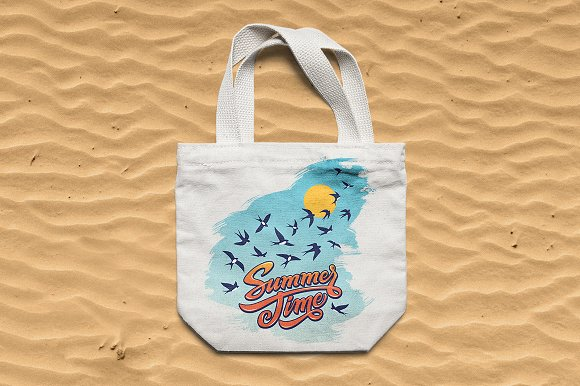 Summertime Lettering Illustration in Illustrations - product preview 2