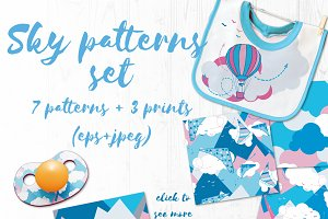 Sky patterns set for kids