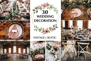 30 photos of wedding decoration !