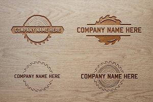 Wood/Saw Logo Bundle. Vector/Mock-Up