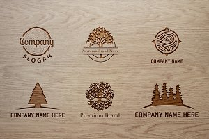 Premium Tree Logo Bundle & Mock-Up