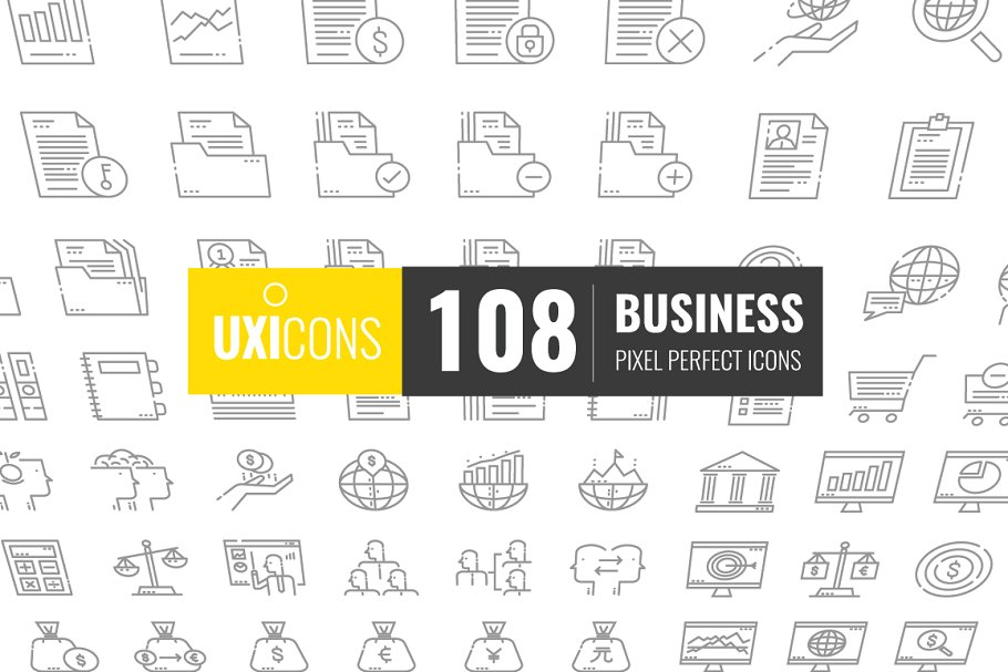 108 Business Icons