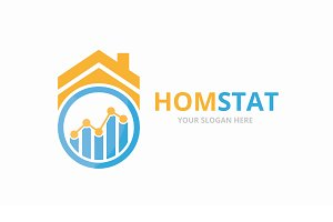 Vector graph and real estate logo