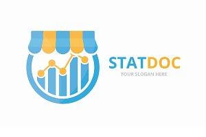 Vector graph and shop logo