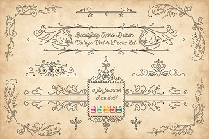 Vector Vintage Hand Drawn Frames