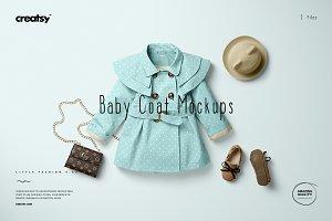 Baby Coat Mockup Set vol.2